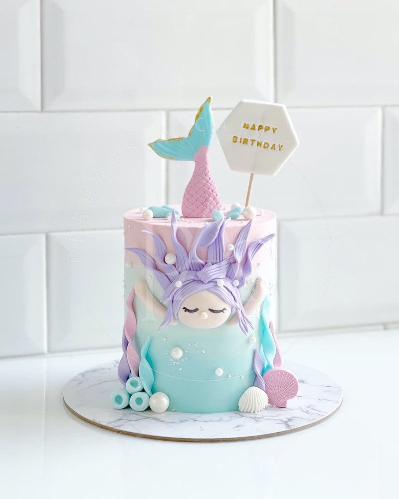 Perhaps A Cake - Party set - Swimming Mermaid