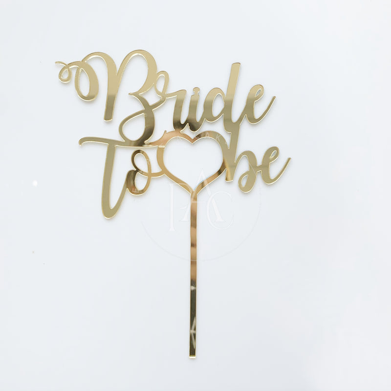 [Cake Topper] Gold Bride To be
