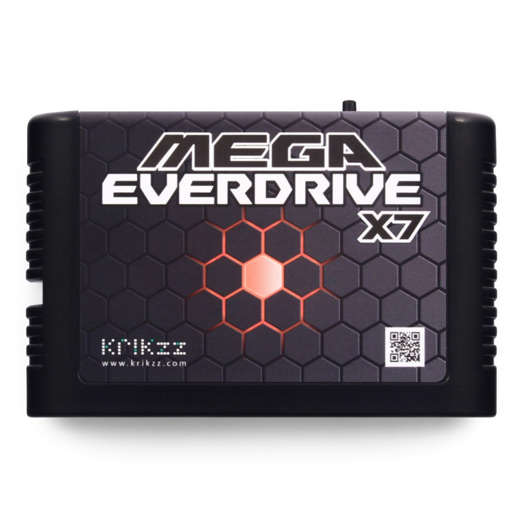 Krikzz MEGA Everdrive X7 Black Cartridge for Sega Genesis and Megadrive