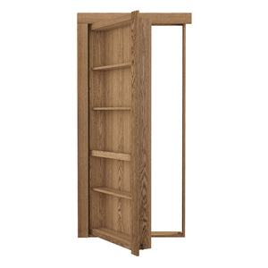 Single Flush Mount Oak Hidden Bookcase Door - Murphy Door, Inc.