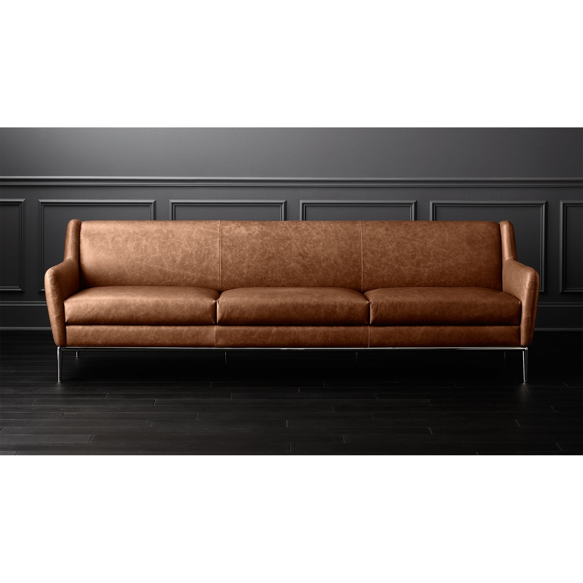 - SALFRED EXTRA LARGE COGNAC LEATHER SOFA – Merch Projects