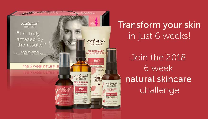 Join the 2018 6 week natural skincare challenge