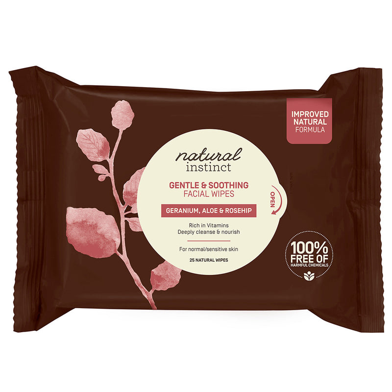 Natural Instinct Gentle + Soothing Facial Wipes