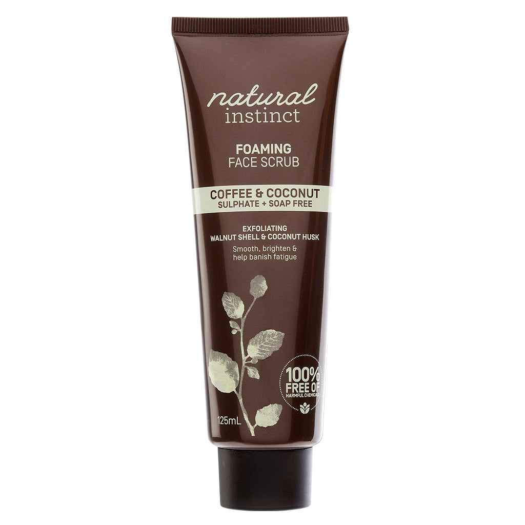 Natural Instinct Coffee + Coconut Foaming Face Scrub