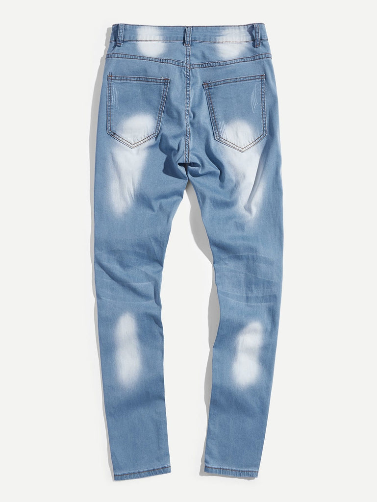 Destroyed Skinny Jeans - Blue - Keturah Monae Fashion