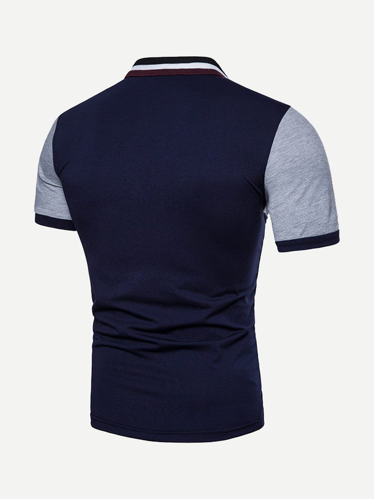 Say It With Your Chest Polo - Blue/Grey/White - Keturah Monae Fashion