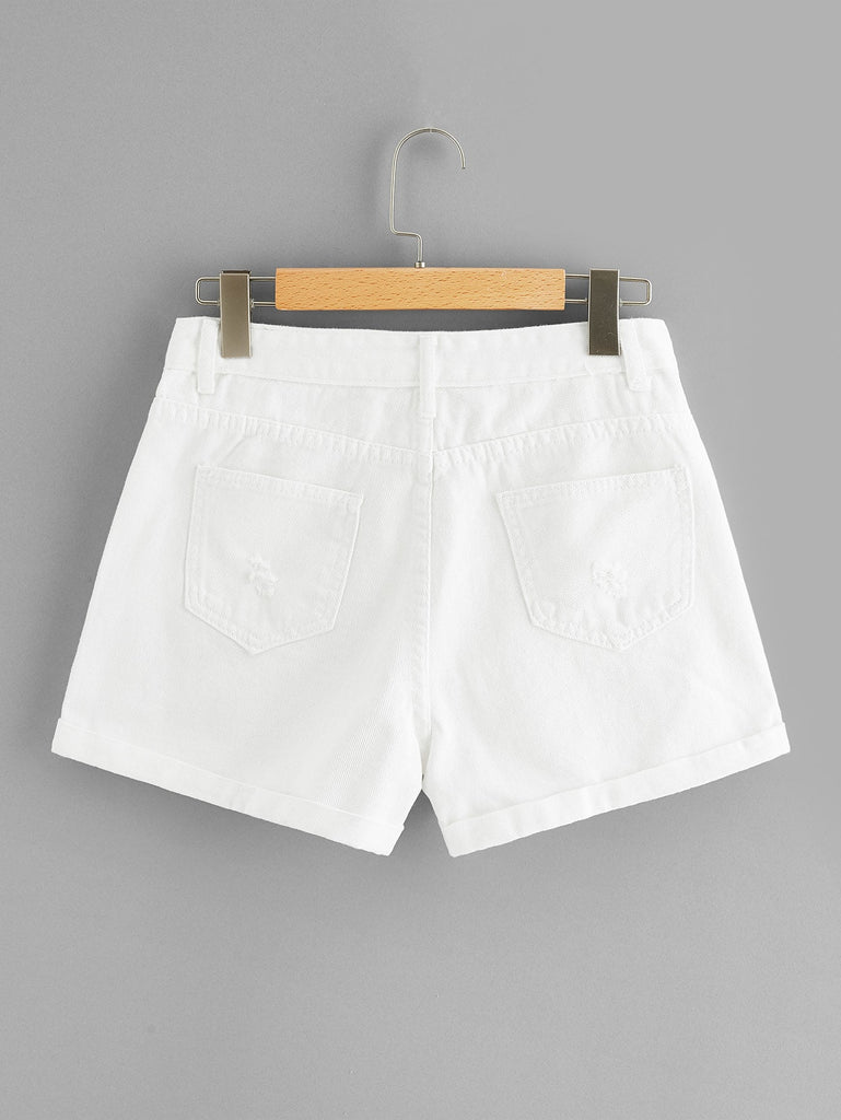 Lady In Distress Shorts - White - Keturah Monae Fashion