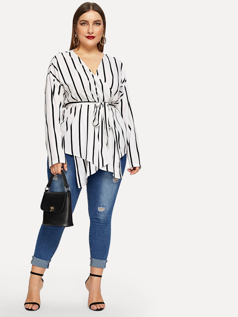 Referee Striped Blouses - Black/White - Keturah Monae Fashion