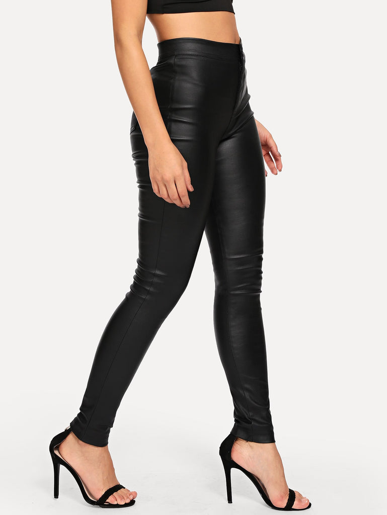 Elegant High Waist Skinny Jeans - Black - Keturah Monae Fashion
