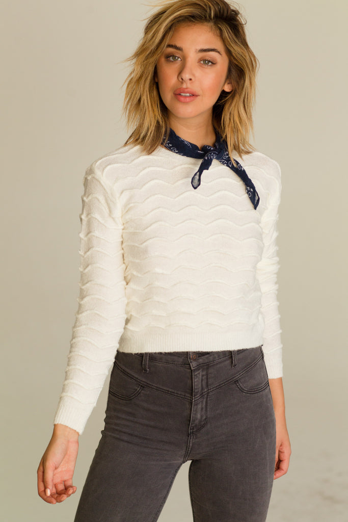 Strong Current Sweater - White - Keturah Monae Fashion