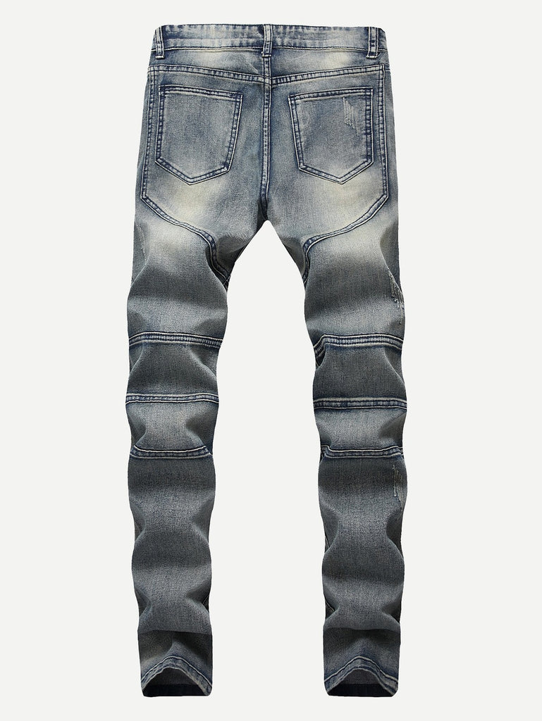 Locomotive Jeans- Blue/Washed - Keturah Monae Fashion