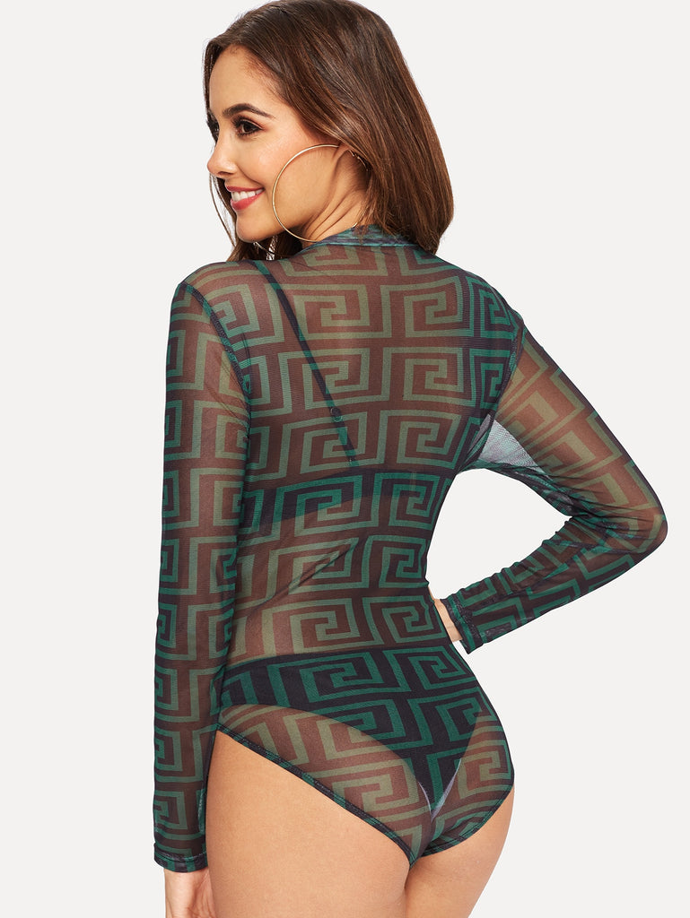 On Fleeck Mesh Bodysuit - Keturah Monae Fashion