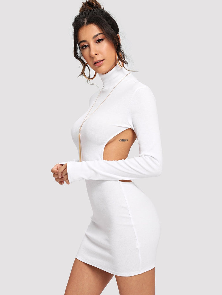 Scoop Back Neck Dress - White - Keturah Monae Fashion