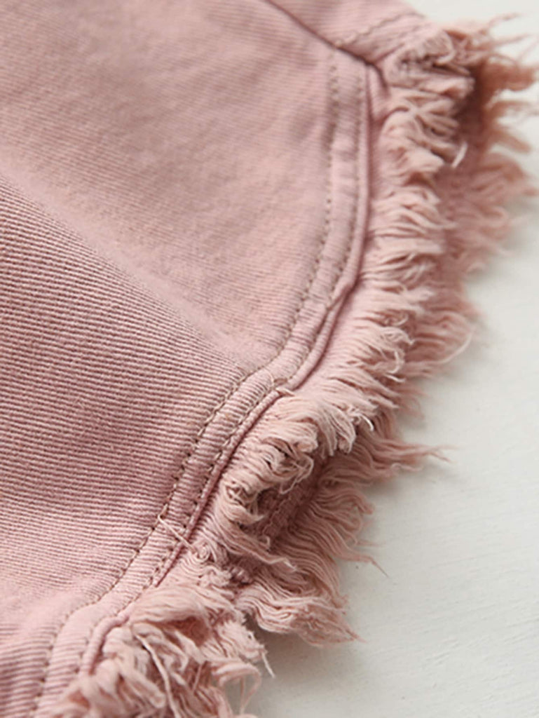Frayed Shorts - Pink - Keturah Monae Fashion