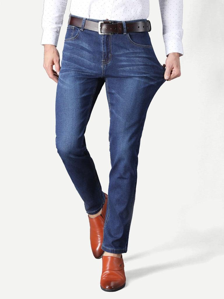 Corporate Man Jeans - Blue/Washed - Keturah Monae Fashion