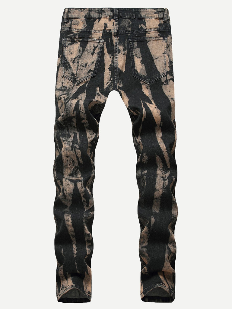Men Tie Dye Wash Jeans - Keturah Monae Fashion