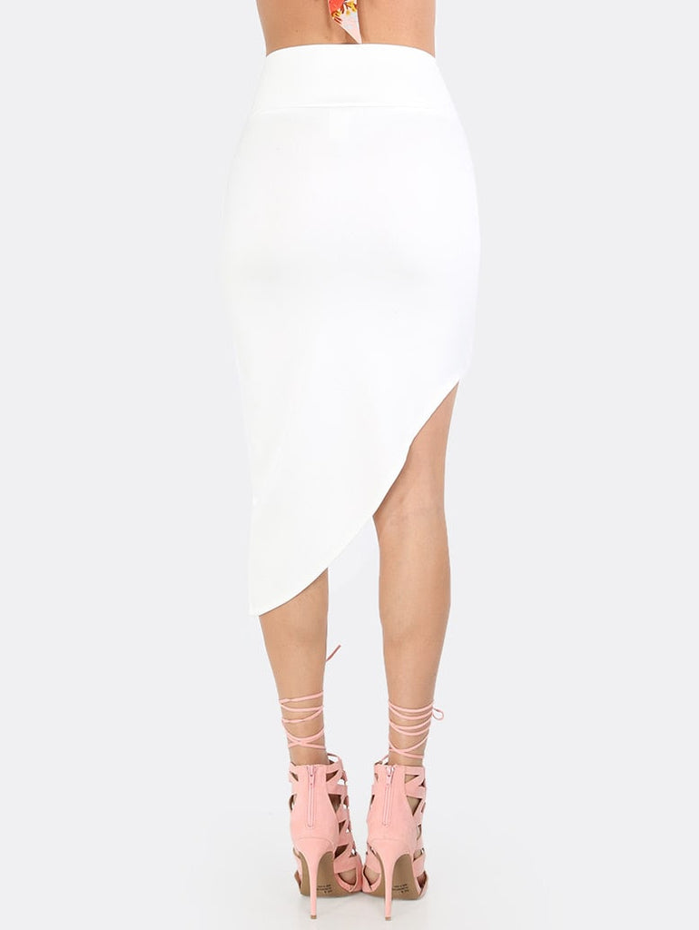 White Skies Skirt- White - Keturah Monae Fashion