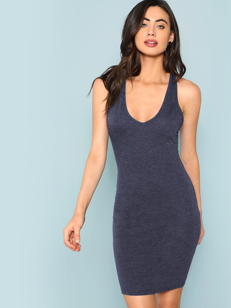 Crisscross Back Dress - Blue - Keturah Monae Fashion
