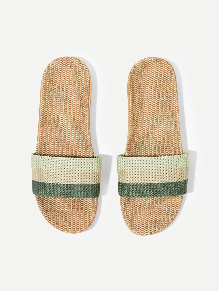 Block Striped Slippers - Keturah Monae Fashion