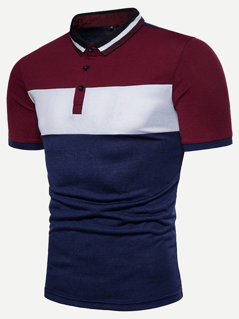 Say It With Your Chest Polo - Blue/Red/White - Keturah Monae Fashion