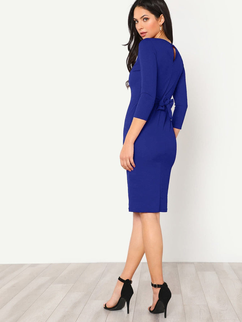 Its A Wrap Dress - Blue - Keturah Monae Fashion