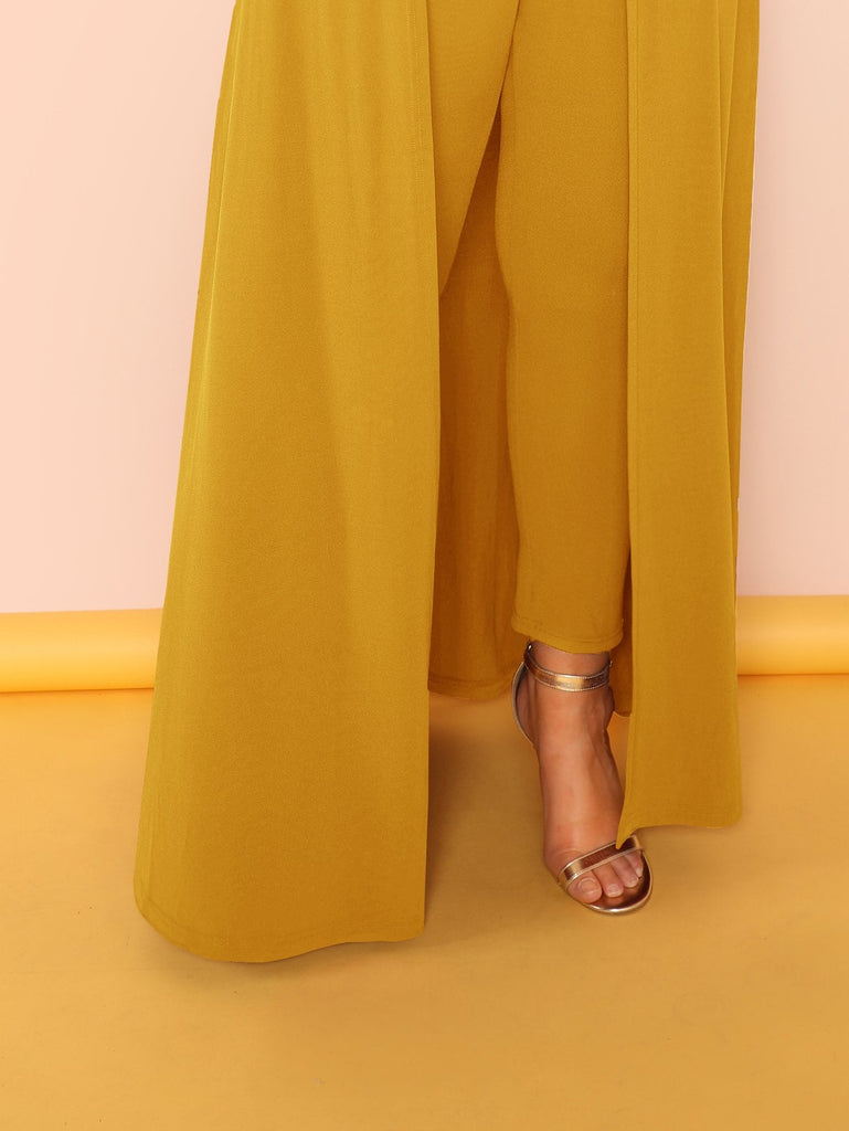 Off Shoulder Solid Maxi Jumpsuit - Keturah Monae Fashion