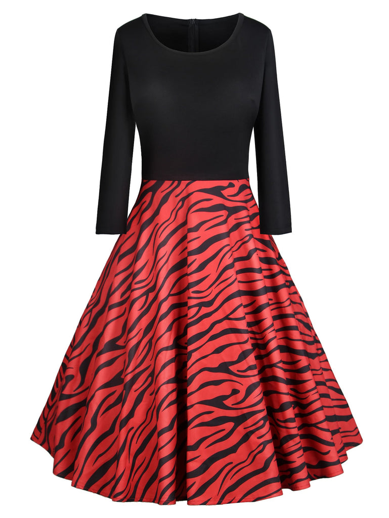 50s Zebra Dress - Red - Keturah Monae Fashion