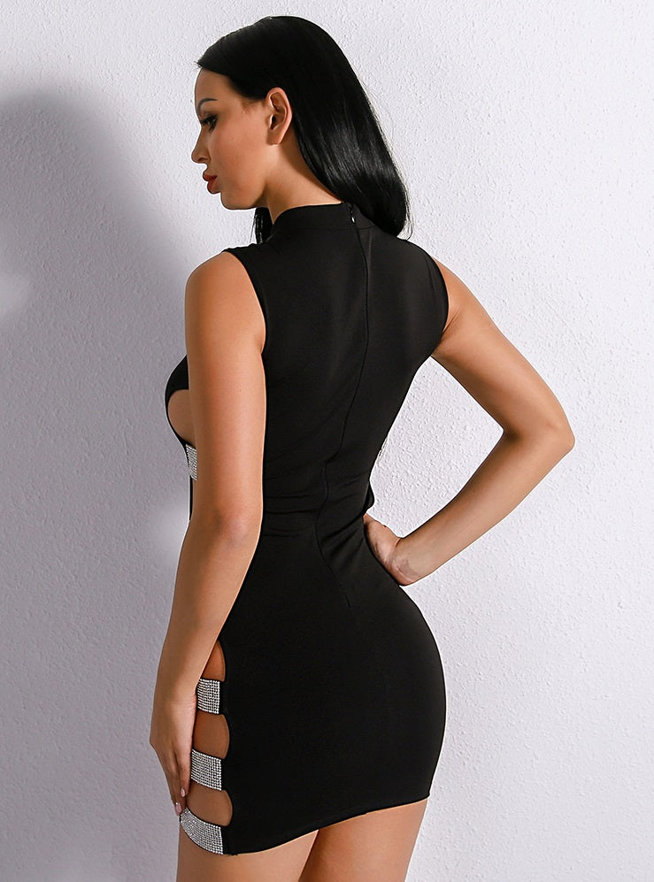 Crystal Side Dress - Black - Keturah Monae Fashion