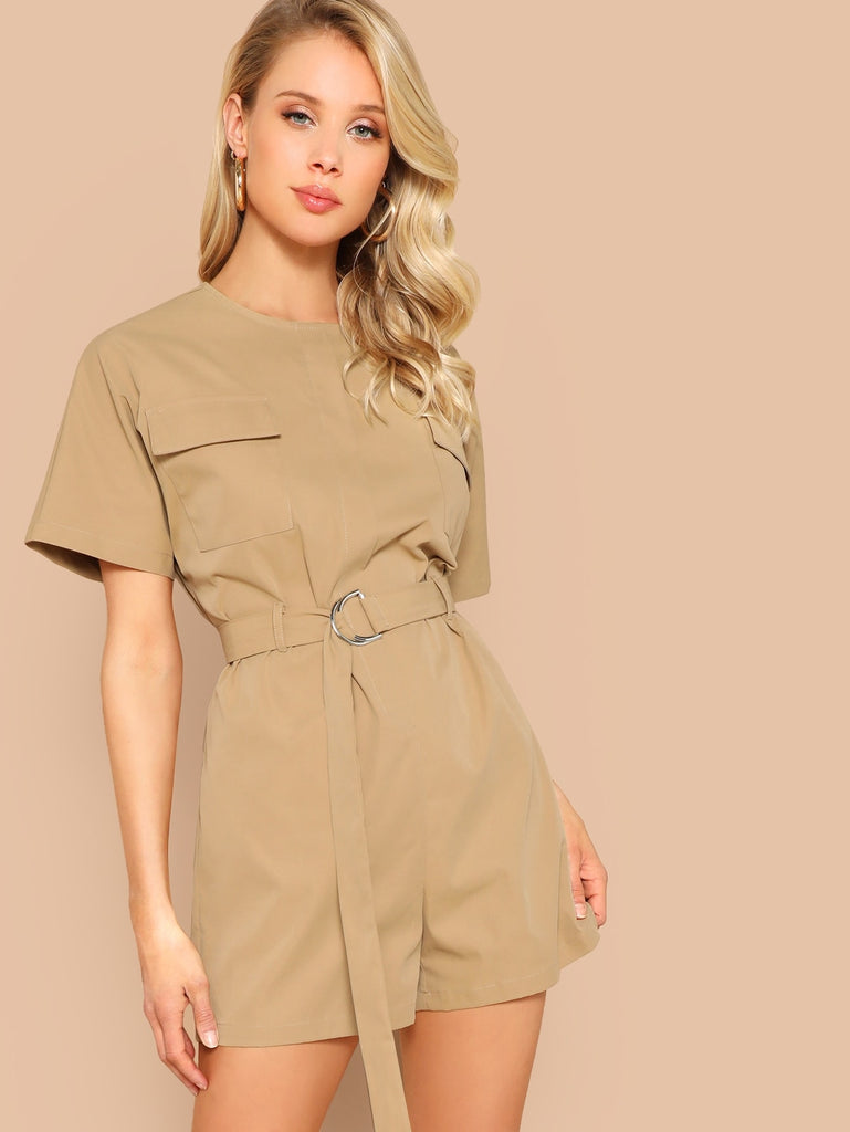 Jane Romper - Tan - Keturah Monae Fashion