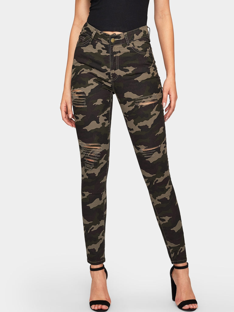 Camouflage Pattern Jeans - Keturah Monae Fashion