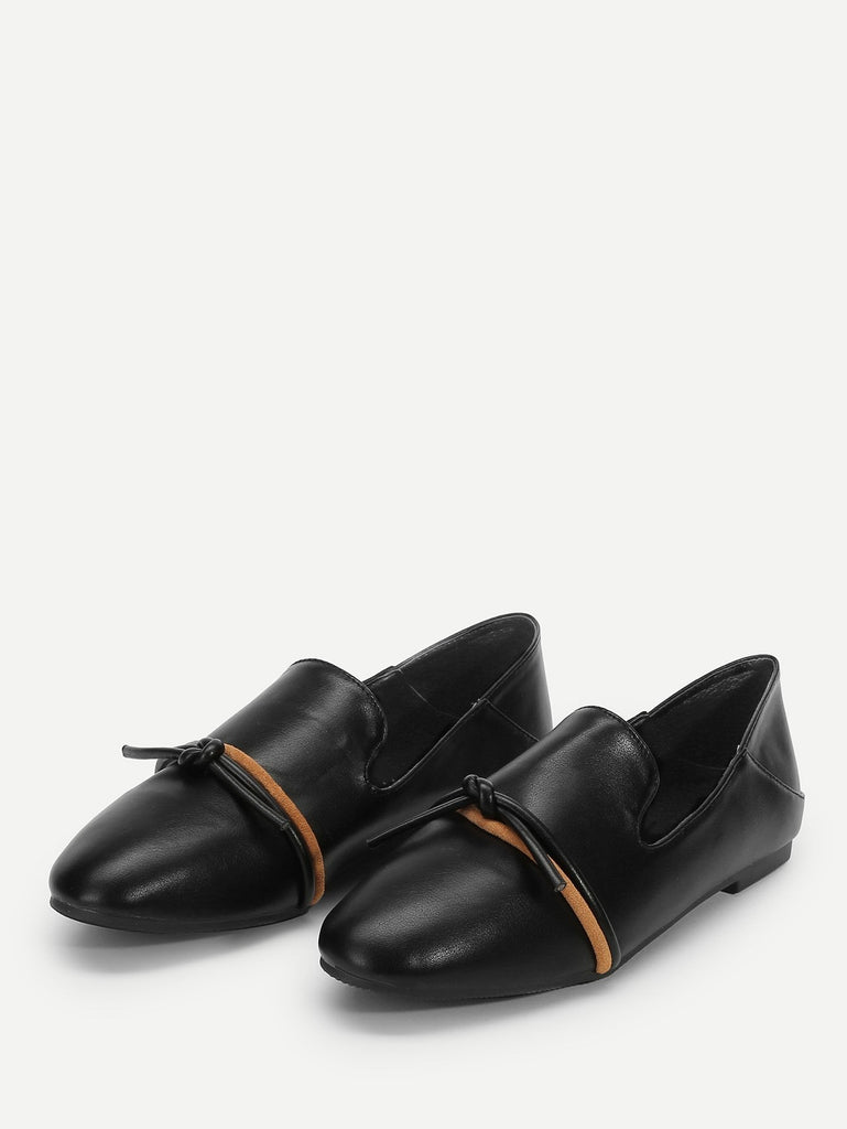 Knot In Love Flats - Black - Keturah Monae Fashion