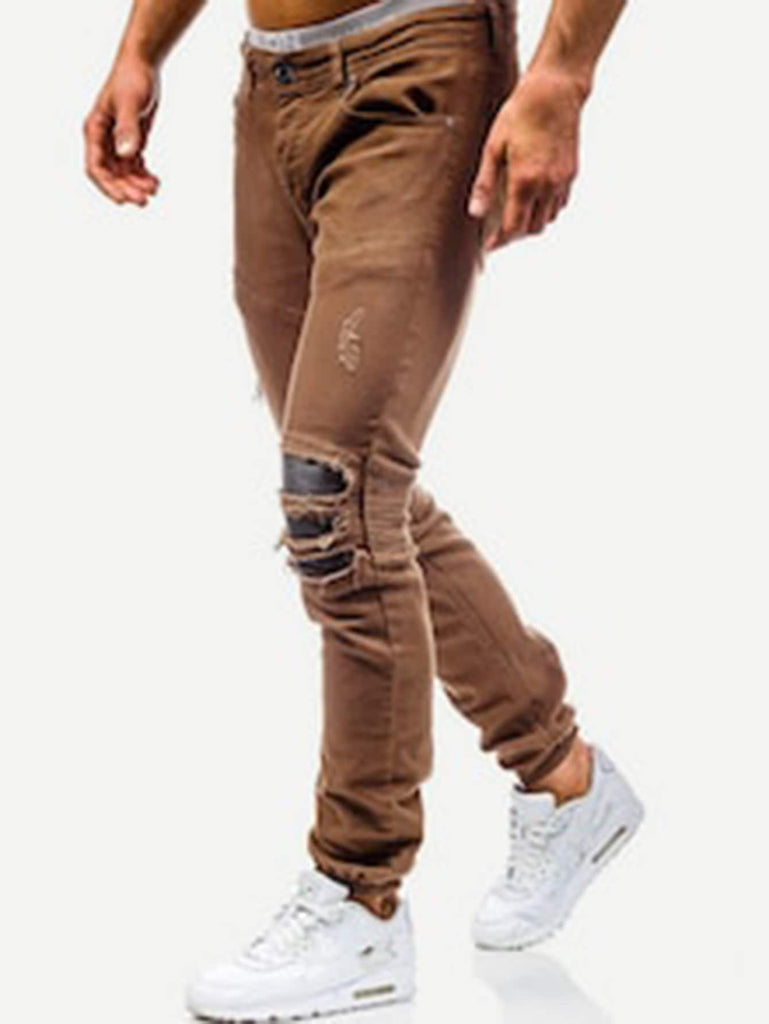Ripped & Zipper Detail Jeans - Keturah Monae Fashion