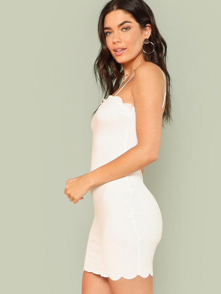 The Scalloped Dress - White - Keturah Monae Fashion