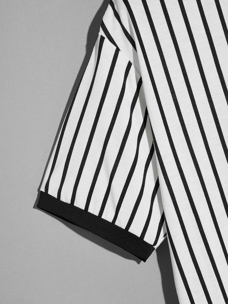 Striped Ringer Top - White - Keturah Monae Fashion