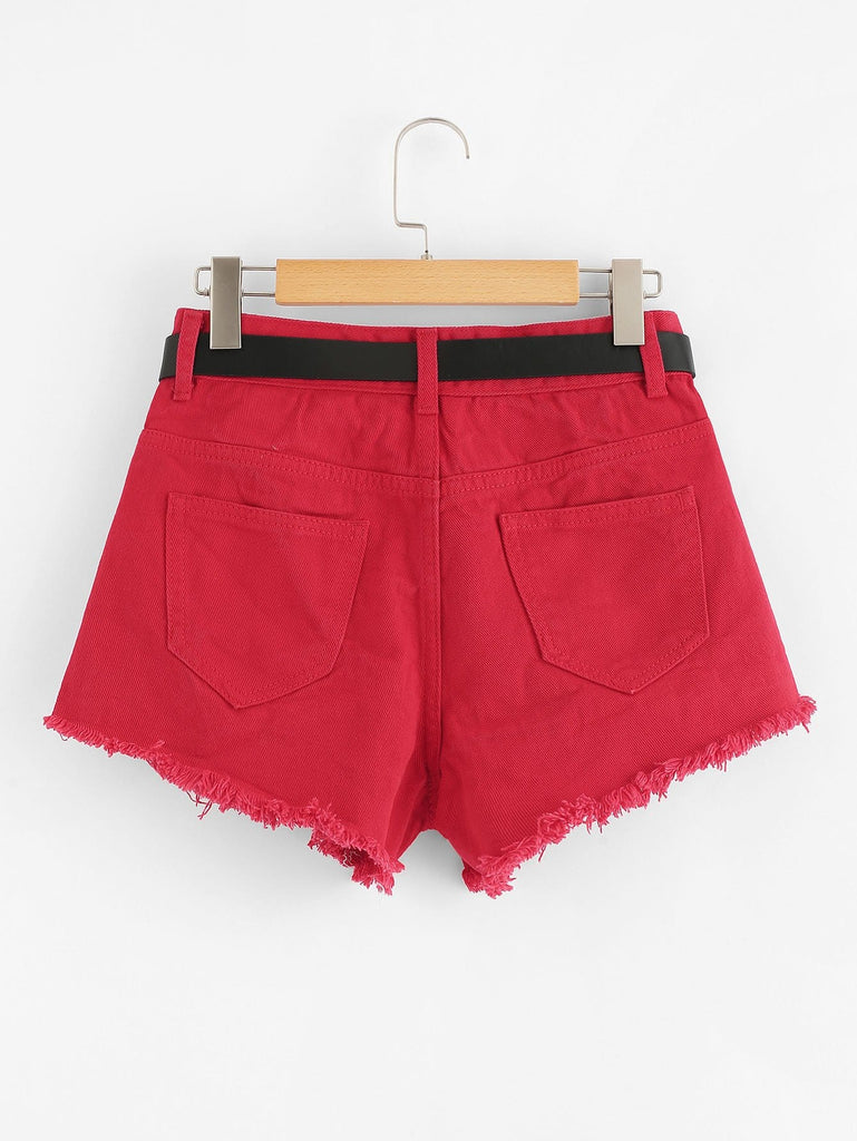 Inglewood Shorts - Red - Keturah Monae Fashion
