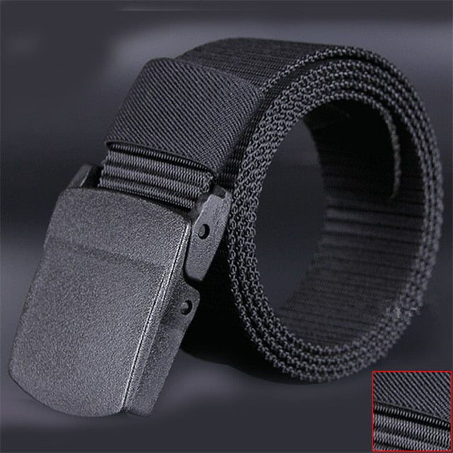 Canvas Waist Belt - Grey - Keturah Monae Fashion