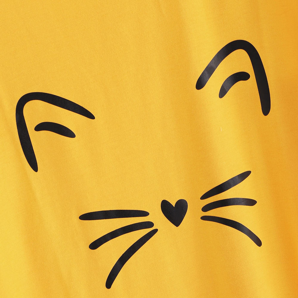 Whiskers Tshirt - Yellow - Keturah Monae Fashion
