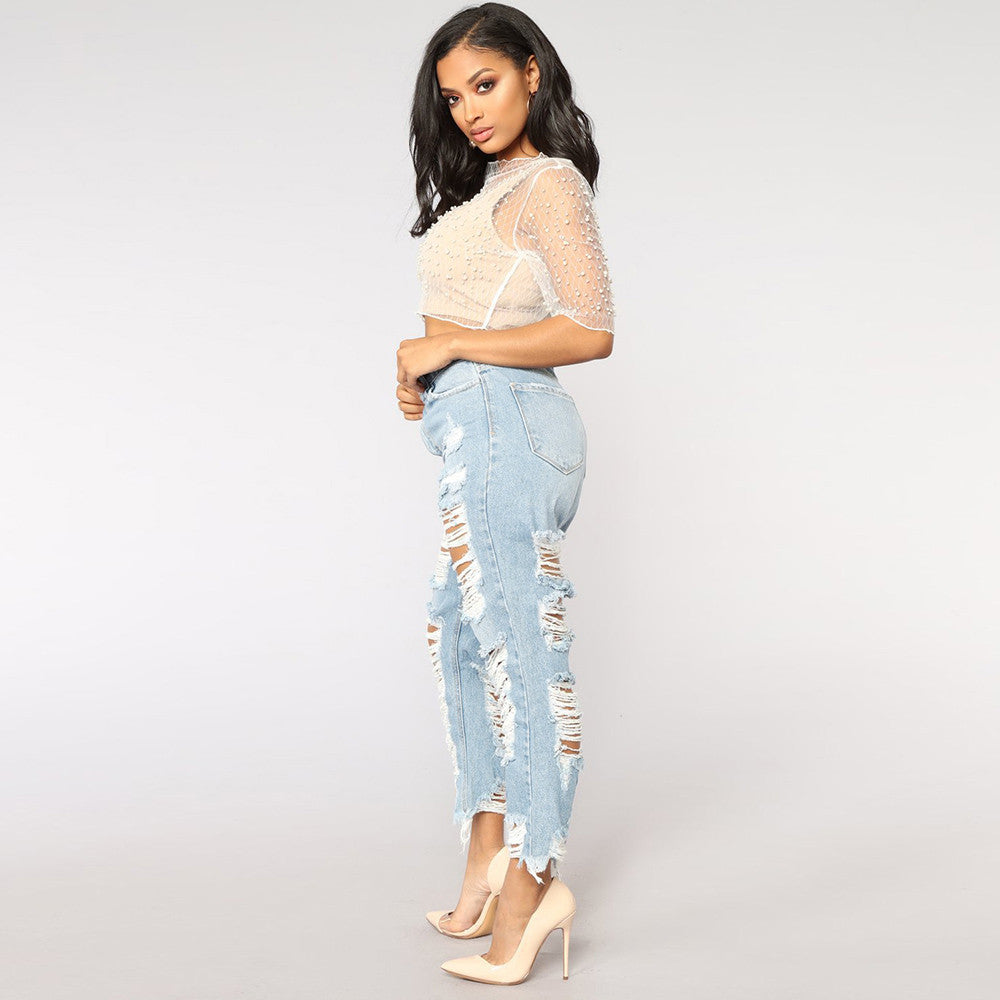 Hole in the wall Jeans - Wash - Keturah Monae Fashion
