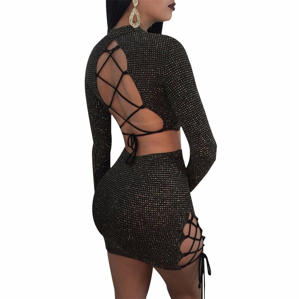 Bandage Mini 2 Piece - Black - Keturah Monae Fashion
