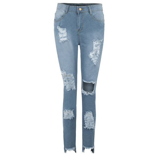 5 Star Ripped Jeans - Denim - Keturah Monae Fashion