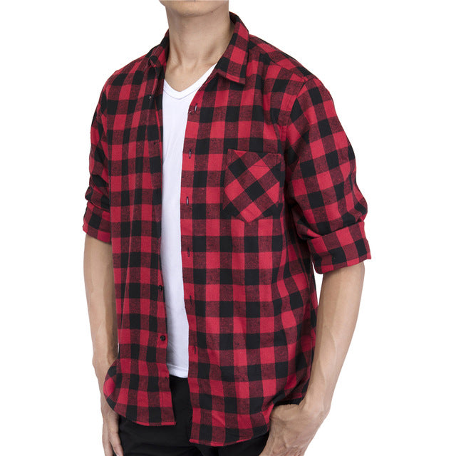 Glad Its Plaid Shirt - Red - Keturah Monae Fashion