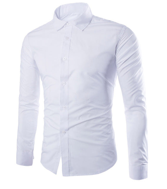 Solid Color Dress Shirt - Keturah Monae Fashion