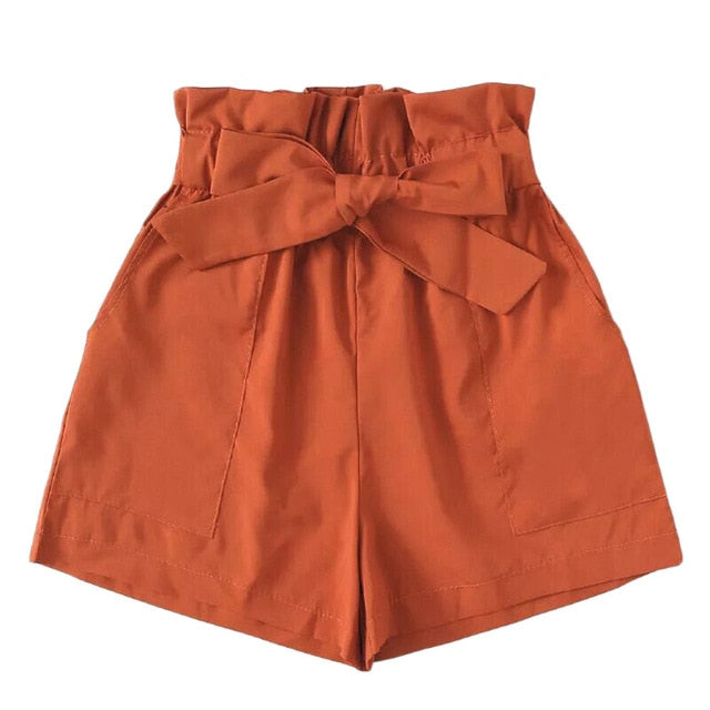 Office Lady  Vintage Shorts - Orange - Keturah Monae Fashion
