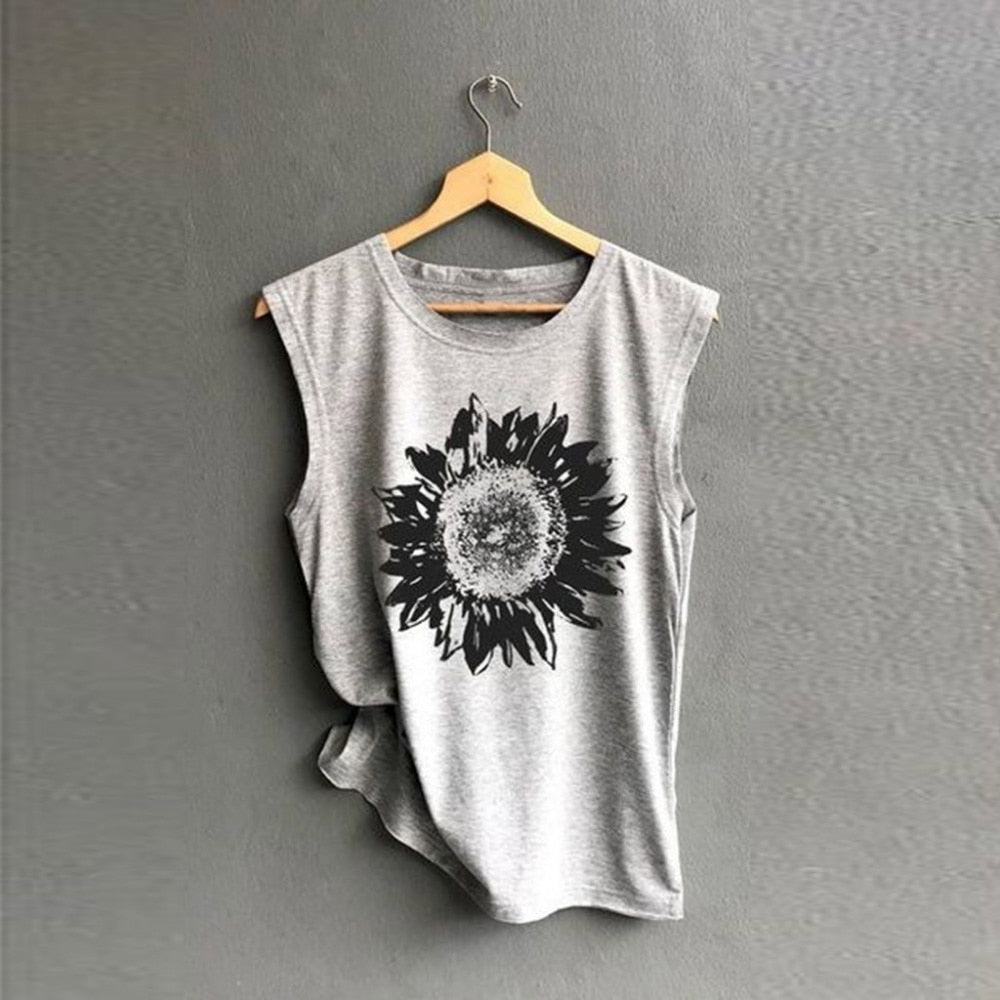 Sunflower Tshirt - Grey - Keturah Monae Fashion