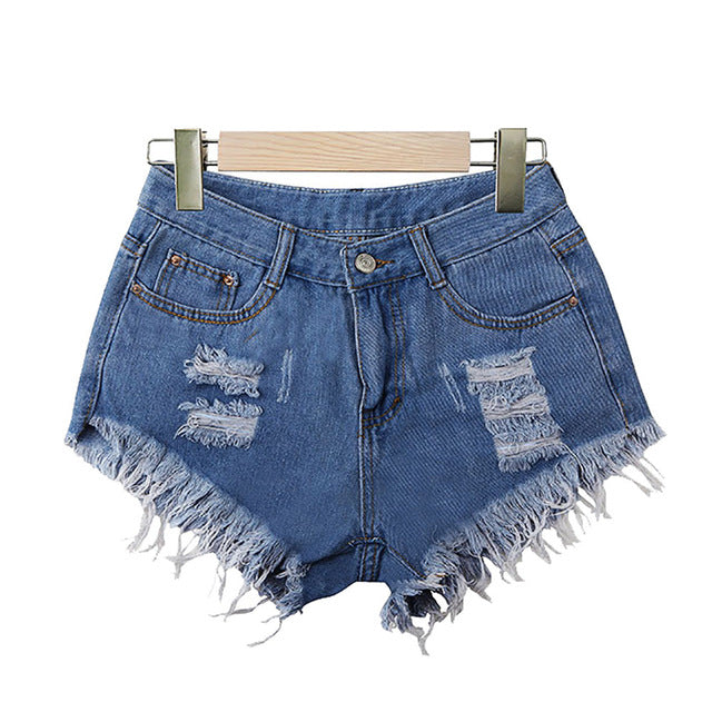 High Waist Tassel Ripped Jeans - Denim - Keturah Monae Fashion