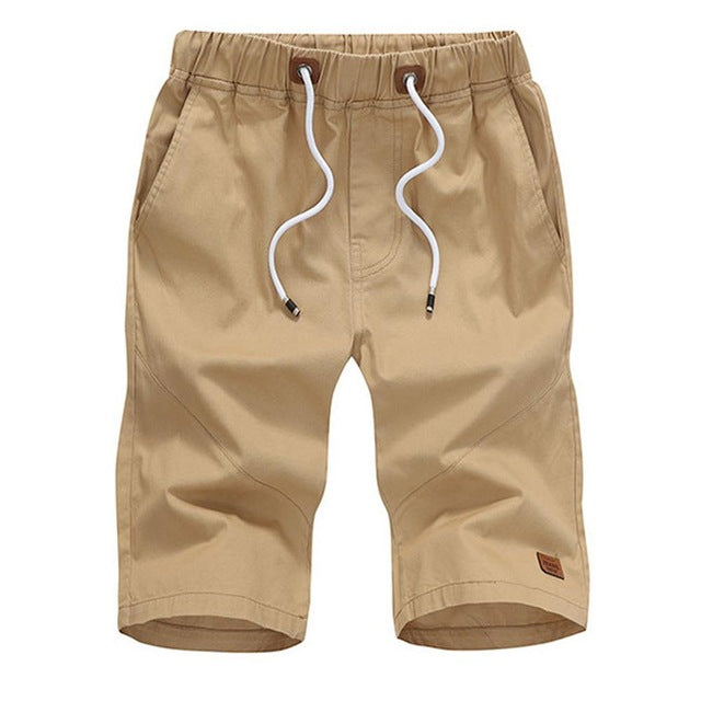 Solid Work Trouser Cargo Shorts - Tan - Keturah Monae Fashion