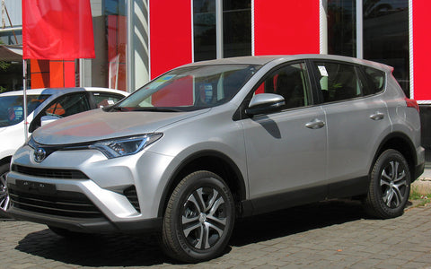 2016 Silver Rav-4 with painted bumper