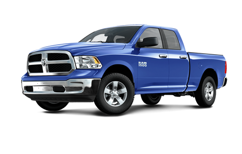 Blue Dodge Ram with Factory Matched Painted Hood