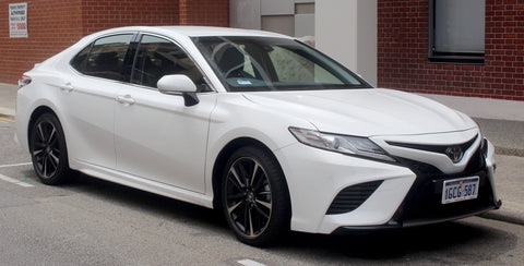 2017 white camry with painter bumper