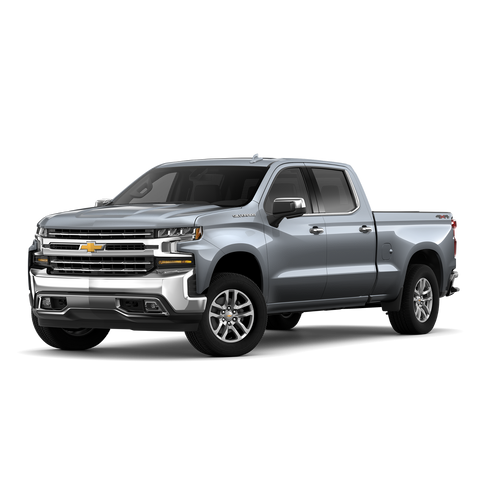 2019 Gray Silverado with PrePainted Gray Bumpers and Fenders